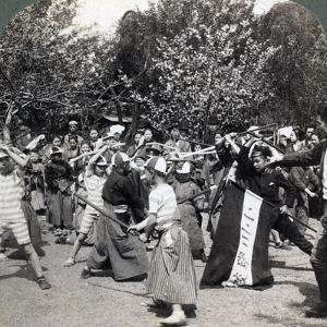 The Warlike Spirit of the Japanese Youth, Tokyo, Japan, 1896 by Underwood & Underwood