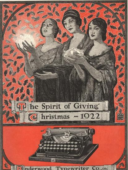 Underwood, Underwood Typewriters, USA, 1920--Giclee Print