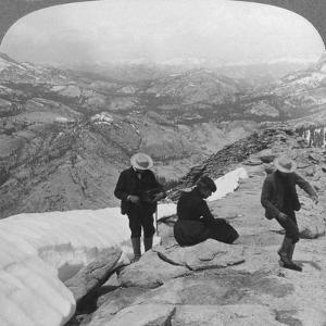 View from Clouds Rest over Tenaya Lake to the Distant Matterhorn, California, USA, 1902 by Underwood & Underwood