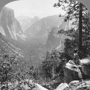 View from Inspiration Point Through Yosemite Valley, California, USA, 1902 by Underwood & Underwood