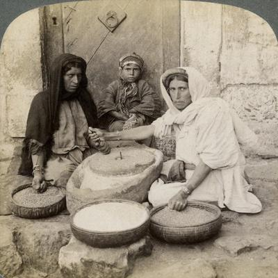 Women Grinding at the Mill, Palestine, 1900