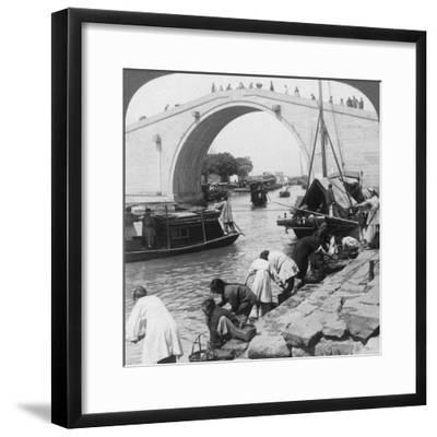 Woo Men Bridge and Grand Imperial Canal, Soo-Chow (Suzho), China, 1900