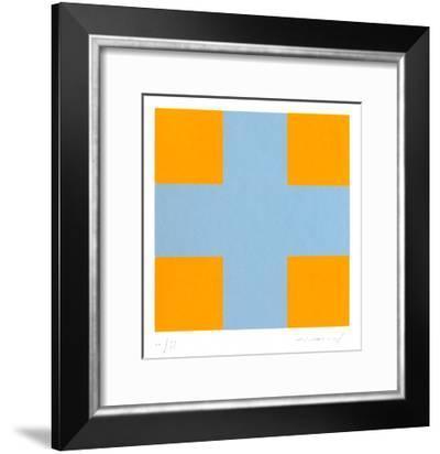Une croix pour quatre carrés-Aurélie Nemours-Framed Limited Edition