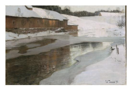 Une fabrique en Norvège-Fritz Thaulow-Giclee Print