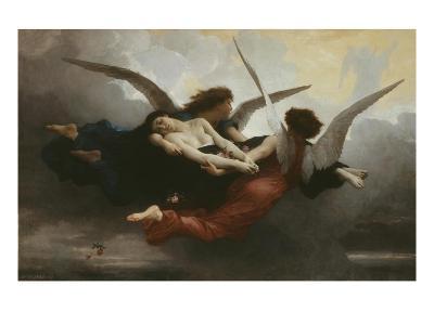 Une ?me Au Ciel (A Soul in Heaven), 1878-William Adolphe Bouguereau-Giclee Print