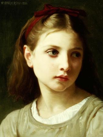 The Broken Pitcher   Bouguereau   Painting Reproduction