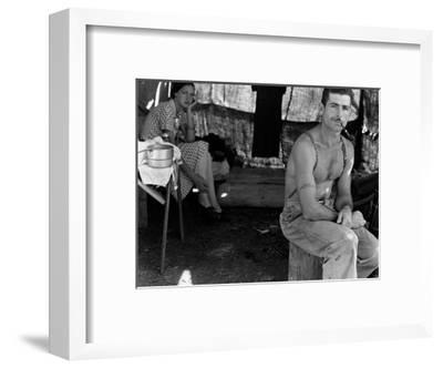 Unemployed Lumber Worker-Dorothea Lange-Framed Art Print