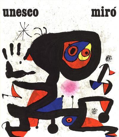 Unesco-Droits de L'Homme-Joan Miro-Collectable Print