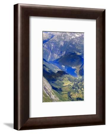 Unesco World Heritage Site. Twisting Mountain Road. Geiranger. Norway-Tom Norring-Framed Photographic Print