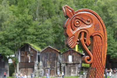Unesco World Heritage Site. Viking Ship Replica. Geiranger, Norway-Tom Norring-Photographic Print