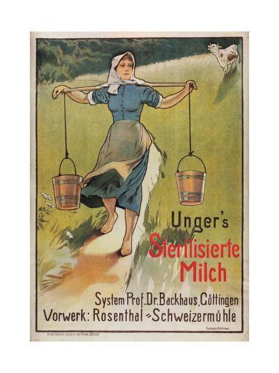 Unger's Sterilized Milk-Hermann Behrens-Art Print