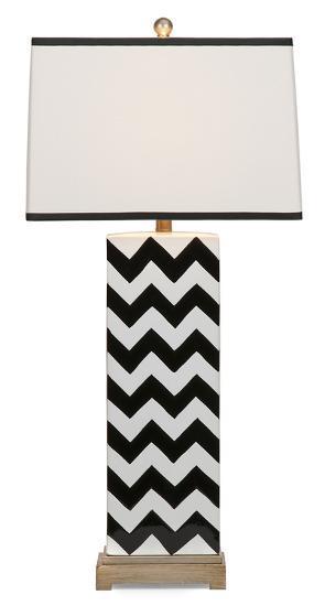 Unico Chevron Table Lamp Black Home Accessories By Art Com