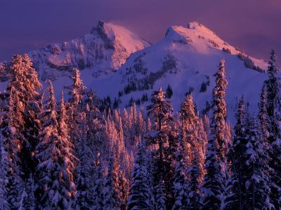 Unicorn Peak, Mt. Rainier National Park, Washington, USA-Art Wolfe-Photographic Print