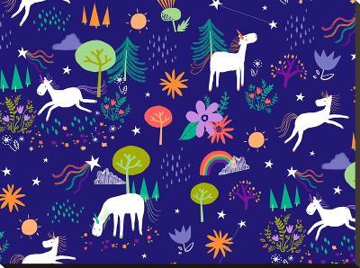 Unicorns-Advocate Art-Stretched Canvas Print