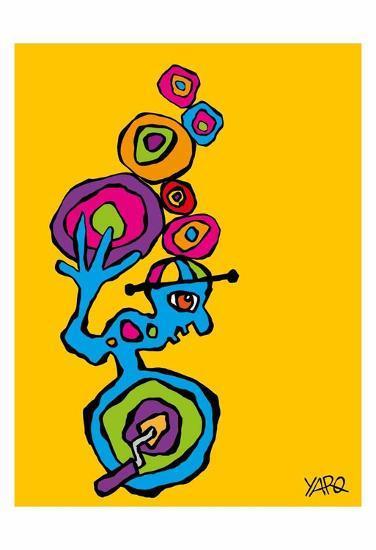 Unicycle-Yaro-Art Print