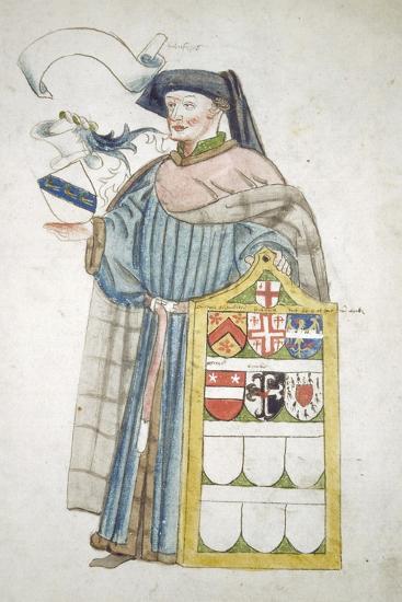 Unidentified London Alderman in Aldermanic Robes, C1450-Roger Leigh-Giclee Print