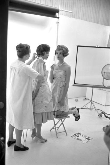 "Unidentified Model Shoot. Part of Allan Grant's Series ""The Golden Girls of the West"", 1960-Allan Grant-Photographic Print"