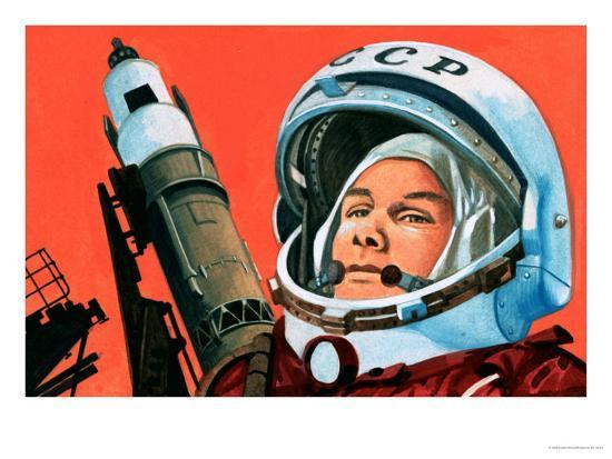 Unidentified Russian Cosmonaut--Giclee Print