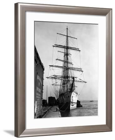 Unidentified Sailing Ship in New Jersey-Edwin Levick-Framed Photographic Print