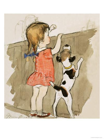Unidentified Young Girl and Dog-Mary Brook-Giclee Print