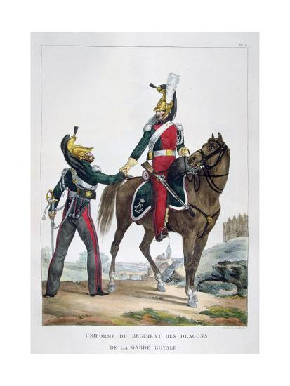 Uniform of a Regiment of Dragoons of the Royal Guard, France, 1823-Charles Etienne Pierre Motte-Giclee Print