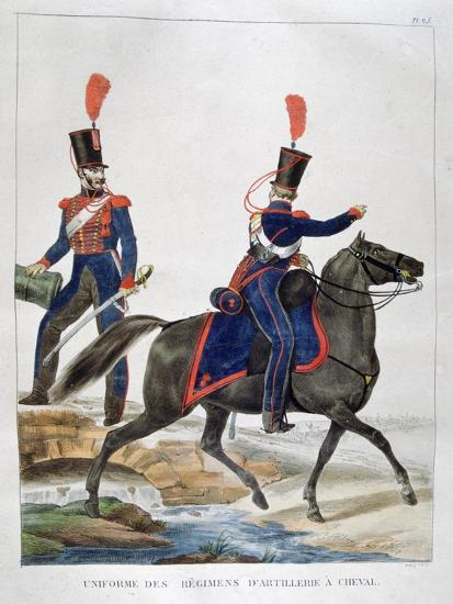 Uniform of a Regiment of Horse Artillery, France, 1823-Charles Etienne Pierre Motte-Giclee Print