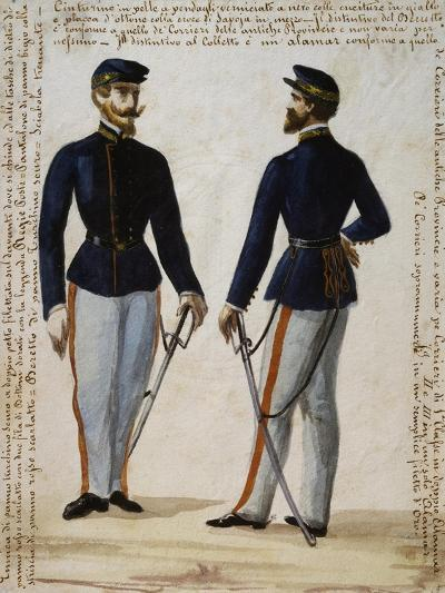 Uniform of Courier from Regional Operations Department of Naples Postal Service--Giclee Print