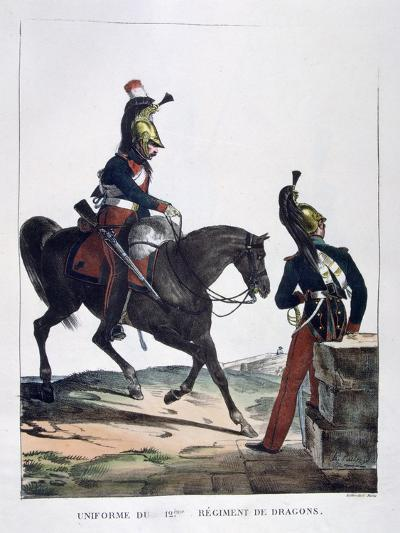 Uniform of the 12th Regiment of Dragoons, France, 1823-Charles Etienne Pierre Motte-Giclee Print