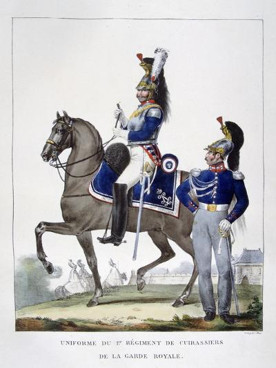 Uniform of the 1st Regiment of Chasseurs of the Royal Guard, France, 1823-Charles Etienne Pierre Motte-Giclee Print