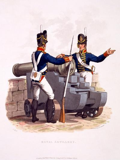 Uniform of the Royal Artillery, from 'Costume of the British Empire, According to the Last…-Charles Hamilton Smith-Giclee Print