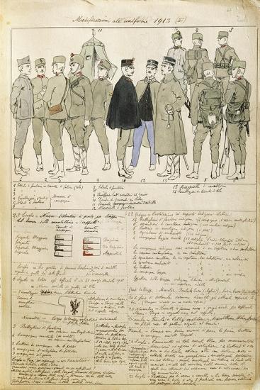 Uniform Variations of Kingdom of Italy, 1913--Giclee Print