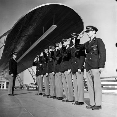 Uniformed Tour Guides Lined Up For Inspection at the 1939 New York World's Fair-Alfred Eisenstaedt-Photographic Print