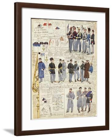 Uniforms and Badges of Kingdom of Italy, 1860--Framed Giclee Print