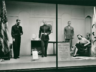 Uniforms in Store Window--Art Print