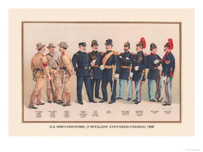 Uniforms of 7 Artillery and 3 Officers, 1899-Arthur Wagner-Art Print