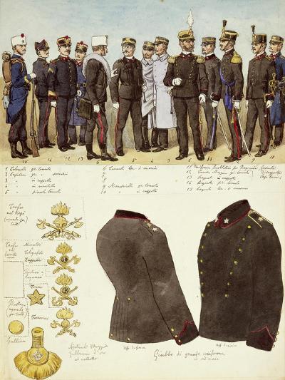Uniforms of Genio--Giclee Print
