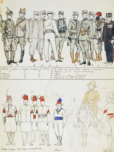Uniforms of Kingdom of Italy, Color Plate, 1911-Quinto Cenni-Giclee Print