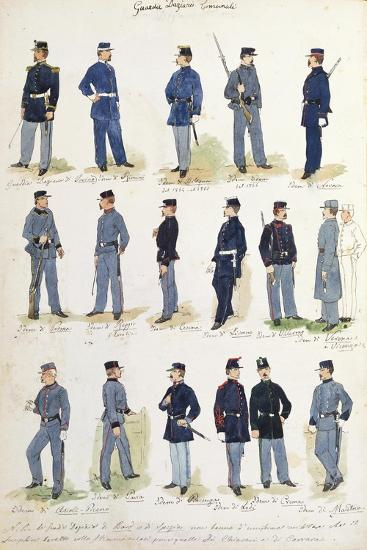 Uniforms of Municipal Financial Guards, 1860-1866--Giclee Print