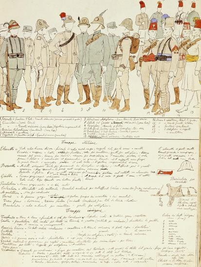 Uniforms of Royal Corp of Colonial Troops of Kingdom of Italy in Eritrea--Giclee Print