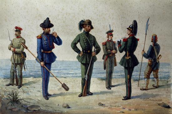Uniforms of the 1848 Legions--Giclee Print