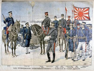 Uniforms of the Japanese Army, Manchuria, 1904--Giclee Print