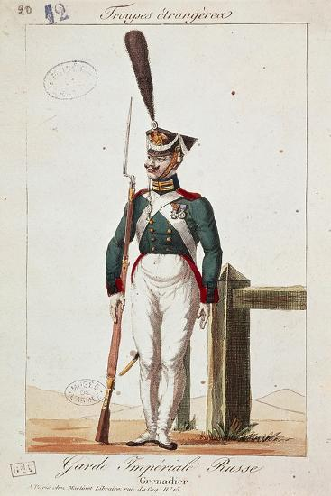 Uniforms of the Russian Army: Grenadier of the Imperial Guard--Giclee Print