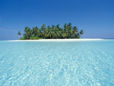 Uninhabited Tropical Island, Ari Atoll, Maldives-Stuart Westmoreland-Photographic Print