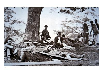 Union Army Amputees Recovering after Surgery (B/W Photo)-American Photographer-Giclee Print