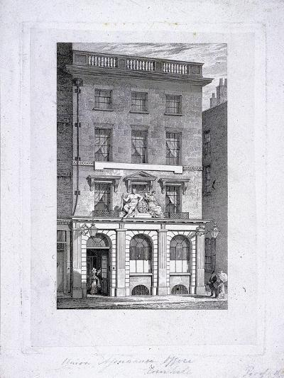 Union Assurance Office, Cornhill, London, C1800-Samuel Rawle-Giclee Print