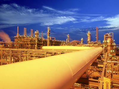 Union Carbide Factory, Kuwait-Lonnie Duka-Photographic Print