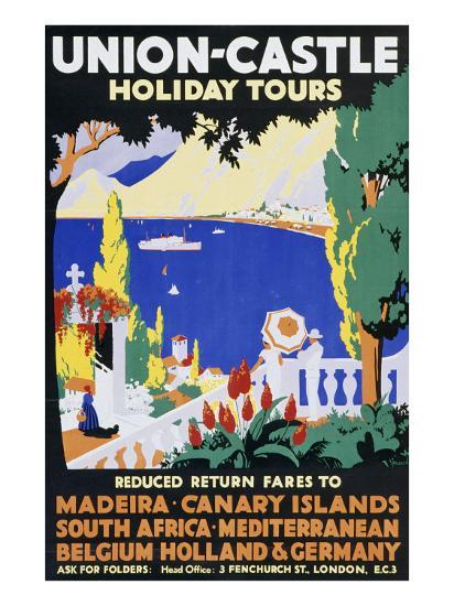 Union-Castle Holiday Tours--Giclee Print