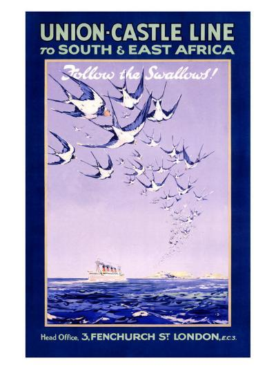 Union Castle Line to South Africa--Giclee Print