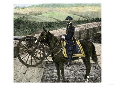 Union General William Sherman at Atlanta, Georgia, During His March to the Sea in 1864--Giclee Print