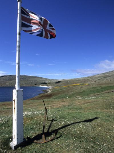 Union Jack British Flag, Falkland Islands-Holger Leue-Photographic Print